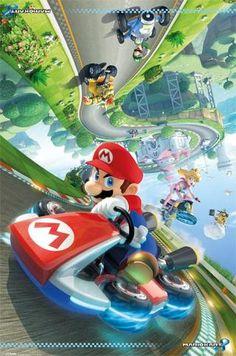Nintendo Mario Kart 8 (Nintendo Wii U) Nintendo Mario Kart, Mario Kart 8, Nintendo Games, Nintendo Characters, Nintendo Switch, Posters Wall, Gaming Posters, Super Mario Bros, Super Smash Bros