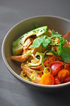 Spicy Thai Chicken Zoodle Salad