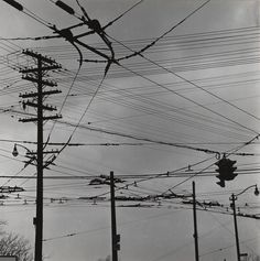 RALPH STEINER  1899 - 1986 Telephone Poles and Streetlight, n.d.