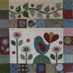 "This quilt is stunning, and one of my favourites, designed by Gail Pan. Finished quilt size is 52"" x 60"" approx"