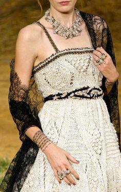 Chanel at Paris Fashion Week Spring 2010. Source: ImaxTree #White #Fashion #Chanel