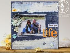 scrapbooking layout, by the sea
