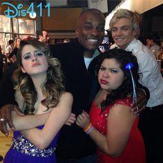 Photo: Eric Dean Seaton With Raini Rodriguez, Ross Lynch And Laura Marano January 24, 2014