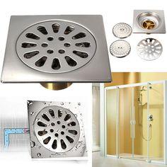 Stainless Steel Floor Bath Shower Bathroom Stopper Strainer Filter Floor Drain Hair Catcher Shower Cover