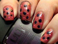 Confessions of a Sarcastic Mom: Nail Art: Doticure with drinky-themed polishes!