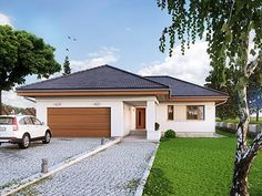 Kiwi by Wojciech Gryniewski, via Behance Philippine Houses, Bungalow House Design, Dream House Plans, Home And Family, Floor Plans, Home And Garden, Mansions, House Styles, Outdoor Decor