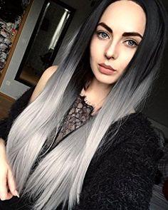 Black blond ombre, silverblond