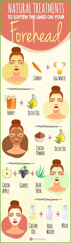 5 Natural Treatments To Soften The Lines On Your Forehead #skincare