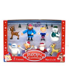 Look at this #zulilyfind! Rudolph the Red-Nosed Reindeer Figure Set by Rudolph the Red-Nosed Reindeer #zulilyfinds