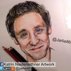 "My Drawing of Tom ""Happyface"" Hiddleston!  Hope you like it. #TomHiddleston #Hiddleston #TWHiddleston #art #drawing #pencils #artist #artwork #artgallery #Tom_Hiddleston"