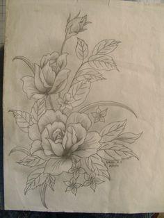 Flores a lapiz Más