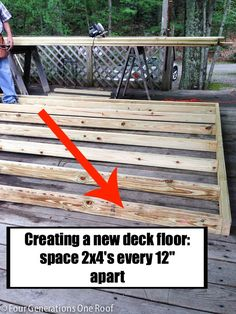 How To Build A Deck Over A Deck {our Campsite