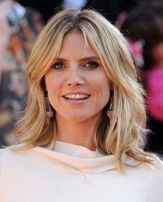 Heidi Klum Medium Razored Layered Haircuts
