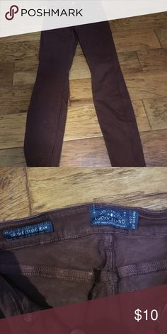 """Lucky brand size 4/27maroon """"Brooke legging jean"""" Great condition :) no tears or stains Lucky Brand Jeans Skinny"""