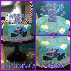 Starla,  Blaze and monster machine cake!! #deltonaflorida #floridastate #cakes #cakesale #bizcochosendeltona ...