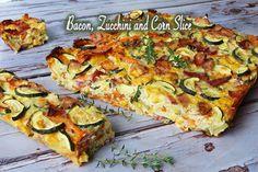 Savoury Slice, Savoury Dishes, Savoury Recipes, Gluten Free Zucchini Recipes, Healthy Recipes, Zuchinni Recipes, Veg Recipes, Healthy Meals, Vegetarian Recipes