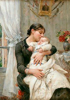 Georges Moreau de Tours (1848 – 1901, French) - Tender Affection