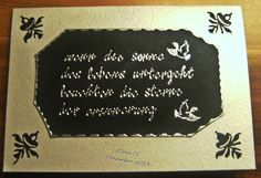 Trauerkarte1 Chalkboard Quotes, Art Quotes, Cards
