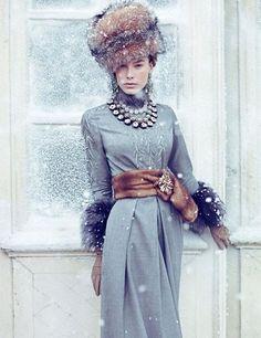russian fur hat styling