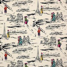 MANUEL CANOVAS PARISIAN Scenic French Toile Fabric 10 Yards
