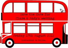 Save the date card - hinting at the wedding transport by Curious Clare