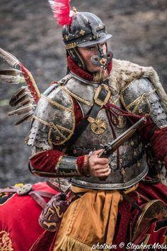 "ritasv: ""'The Polish Hussars' courtesy of Stephen Moss/Photosm "" Medieval Armor, Medieval Fantasy, Battle Of Vienna, Types Of Armor, Poland History, Armor Clothing, Landsknecht, Historical Costume, Military Art"