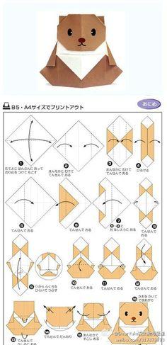 hamster origami