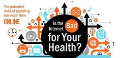 Virtual Health-Harming Infographics - Excessive Internet Usage Does More than Promote Bad Posture (GALLERY)