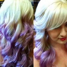 Purple hair! Gorgrous Violet ombre!