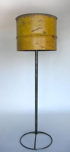 #4-249 Oil drum floor lamp. Japan – - 23Dx74H