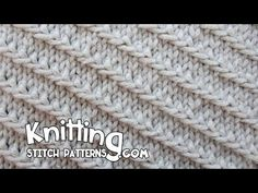 Diagonal Slip Stitch - YouTube