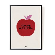 Apple 'You Are Magique' size print from Amsterdam based creative studio, Hôtel Magique, on Munken Lynx 300 grams paper. Frame not included. FSC and PEFC certified SIZE - 42 cm x cm Munken Lynx 300 grams paper Lynx, Format A3, New Darlings, Poster Art, Art Posters, Luxury Wallpaper, Wallpaper Art, Deco Addict, Apple Prints