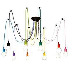 handmade cable wire bulb chandelier pendant light lamp edison industrial modern ebay living. Black Bedroom Furniture Sets. Home Design Ideas