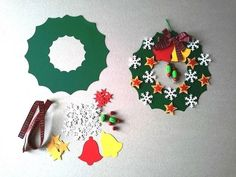 Новогодние веночки из бумаги.   OK.RU Christmas Reef, Christmas Crafts For Kids To Make, Christmas Card Crafts, Christmas Fairy, Clay Christmas Decorations, Christmas Wreaths, Christmas Ornaments, Advent, Theme Noel