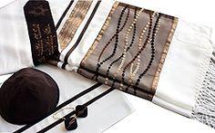 Elegant Silk & Organza Tallit Set - Serenity