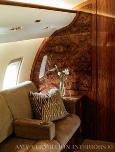 Amy Vermillion Interiors Private Jet Design