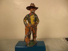 Vintage Barclay Cowboy with Tin Brim Hat | eBay
