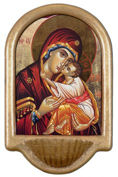 Icon of Mary Holy Water Font Click picture to see on #catholictothemax