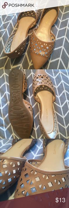 • FRANCO SARTO • flats Nude Franco Sarto flats. Worn all of 5 times. Some signs of light wear..creasing but that is normal for the material. Otherwise in excellent condition! Franco Sarto Shoes Flats & Loafers