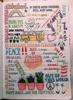 30 creative and effective bullet journal ideas for you 12 Wreck This Journal, My Journal, Vsco, Bullet Journal Inspiration, Bullet Journal Doodles Ideas, Journal Ideas Tumblr, Writing, Artsy, Elegant Nails