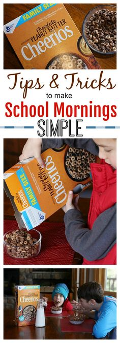Struggling with busy school mornings? Check out my tips and tricks to make it all run smoothly  and find out how NEW Chocolate Peanut Butter Cheerios from Walmart make mornings delicious.  #AD #NewYearNewCereal
