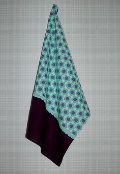 sweet mint flowers- kitchen towel - see more on Dawanda.com - Nostalgie & Nähkästchen