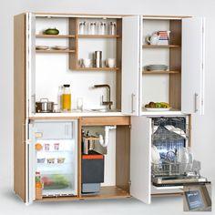 Schrankküche | Büroküche designLINE - Vielfalt auf kleinstem Raum... Bathroom Medicine Cabinet, Cabinet, Diy And Crafts, Small Places, Bathroom