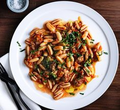 Luca's gnocchetti Sardi with pork, fennel sausage ragù, anchovy and mint   Gourmet Traveller
