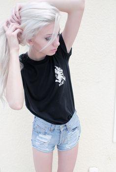 white • hair • dyed • style • fashion • girl