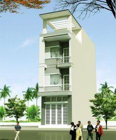 mẫu nhà phố đẹp kiểu dáng hiện đại--thiết kế 2