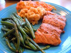 """Grilled salmon marinated in """"The Best Salmon Marinade Ever""""....it is awesome!"""