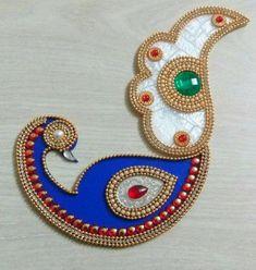 Your place to buy and sell all things handmade Home Wedding Decorations, Diwali Decorations, Decor Wedding, Rangoli Patterns, Rangoli Designs, Hindus, Thali Decoration Ideas, Acrylic Rangoli, Peacock Rangoli