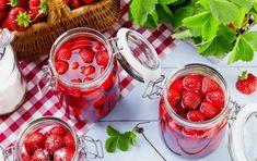 Panna Cotta, Raspberry, Strawberry, Rhubarb Desserts, Vegetables, Recipes, Food, Syrup, Yogurt
