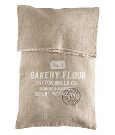 Linen cushion.